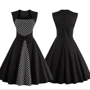 Dresses & Skirts - 50's Inspired Polka Dot Swing Dress